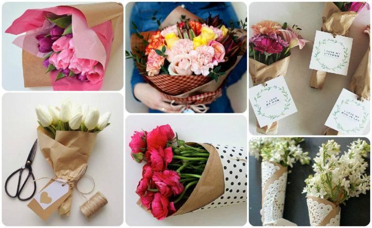 Как красиво упаковать букет цветов своими руками: необычные идеи с фото