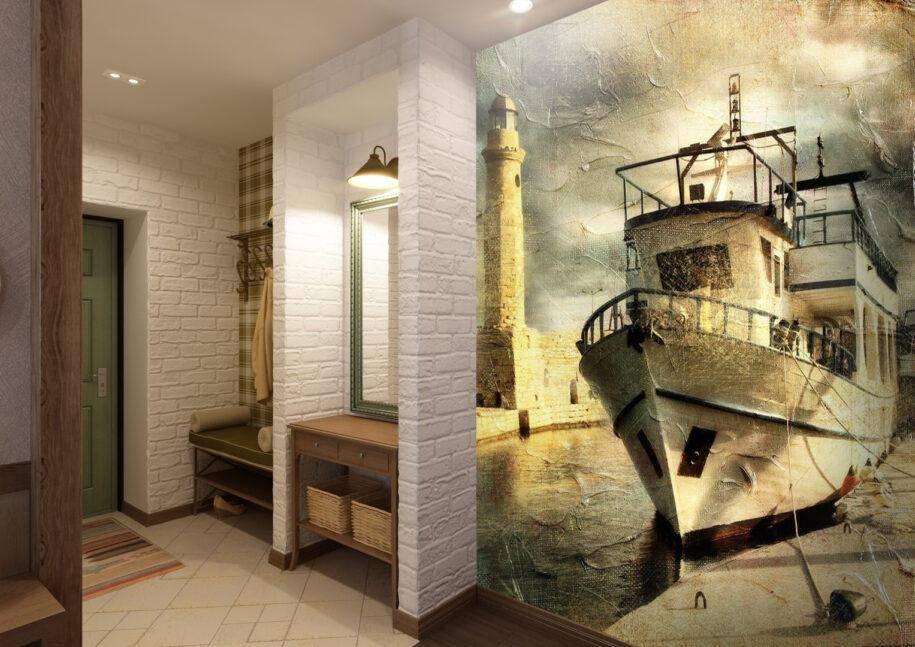 Стены в прихожей: 85 фото лучших отделочных работ и современных решений