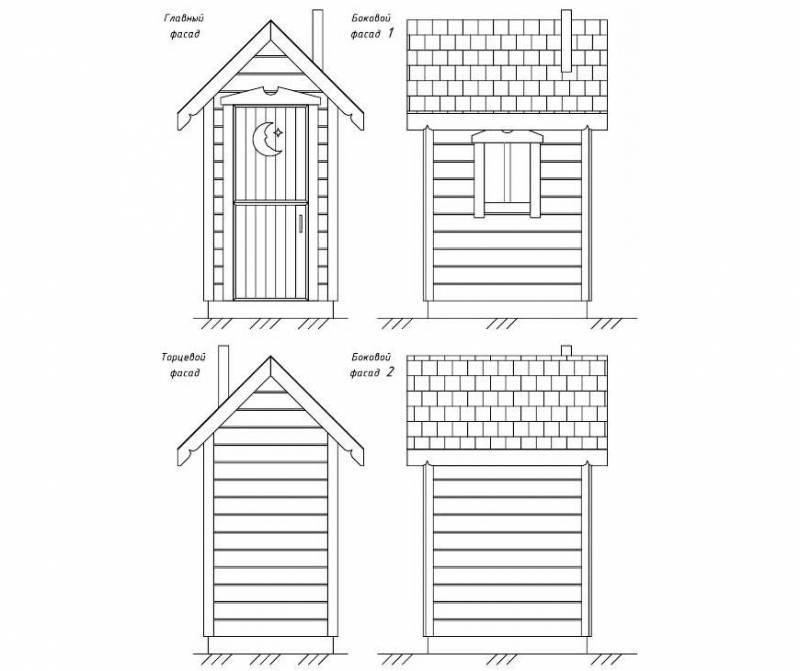 Деревянный туалет для дачи, виды, как правильно построить, схемы, фото