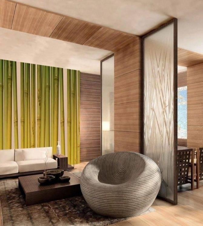 Различные способы применения бамбука в интерьере