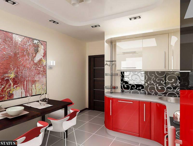 Кухня в красном цвете: идеи и секреты правильного дизайна  (60 фото)