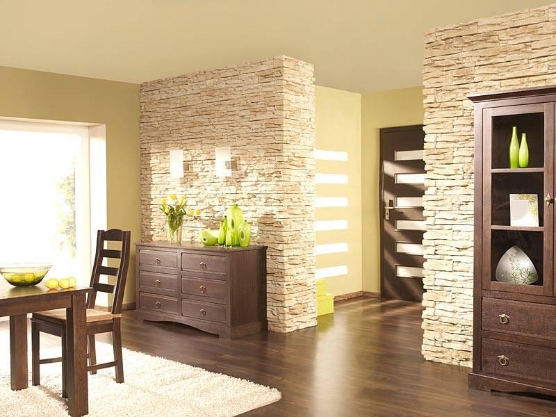 Декоративный камень для внутренней отделки - 100 фото вариантов обрамления искусственным камнем различных помещений