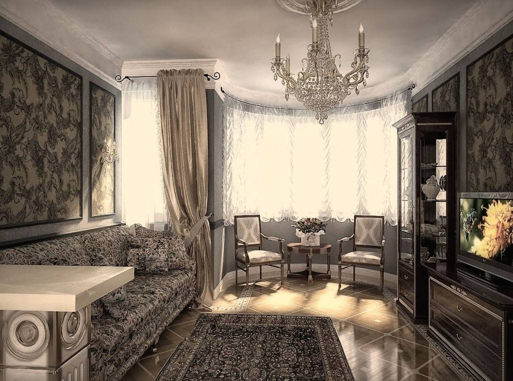 Гостиная в классическом стиле для современного жилища: зонирование, фактуры, освещение