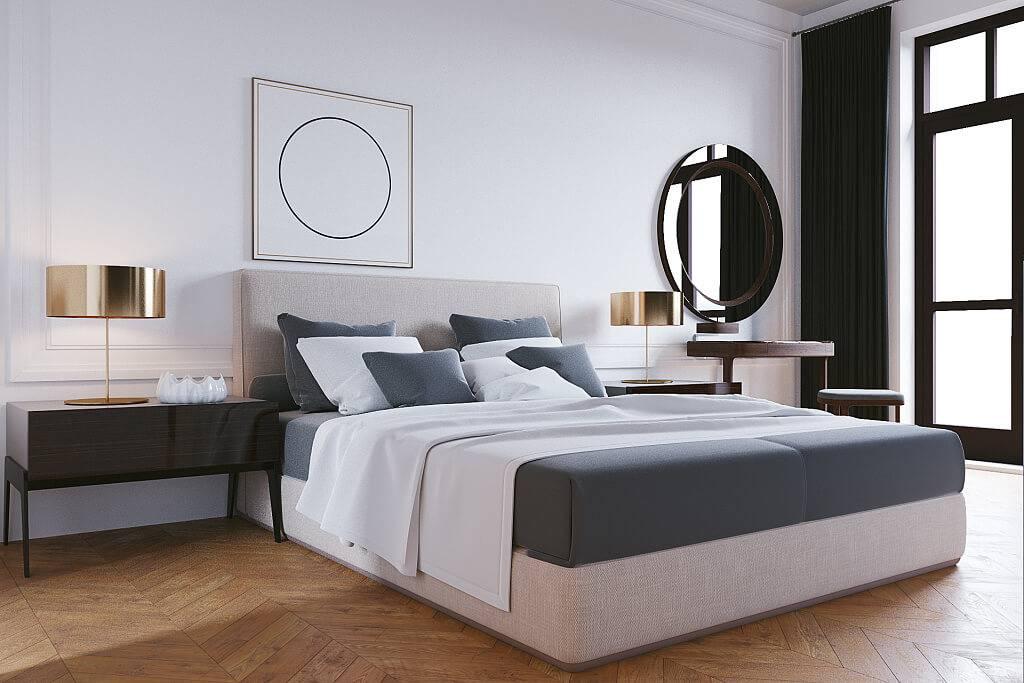 Спальня в стиле модерн — комфортный интерьер в приглушенных тонах (фото+видео обзор и дизайн)
