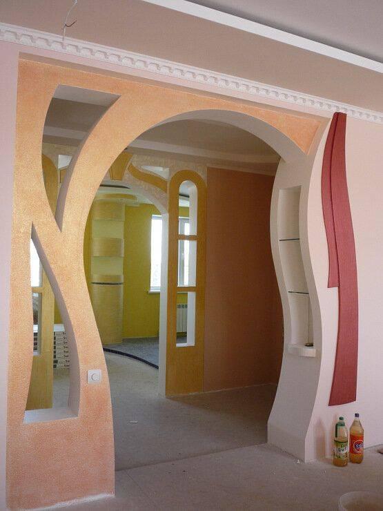 Дизайн арки из гипсокартона в интерьере (44 фото): красивые арки для зала и гостиной, гипсовые изделия в интерьере