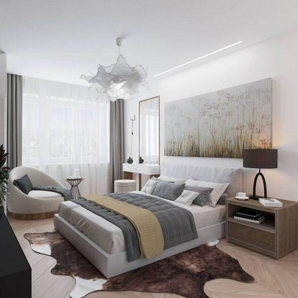 Дизайн гостиной, совмещенной со спальней (90 фото)