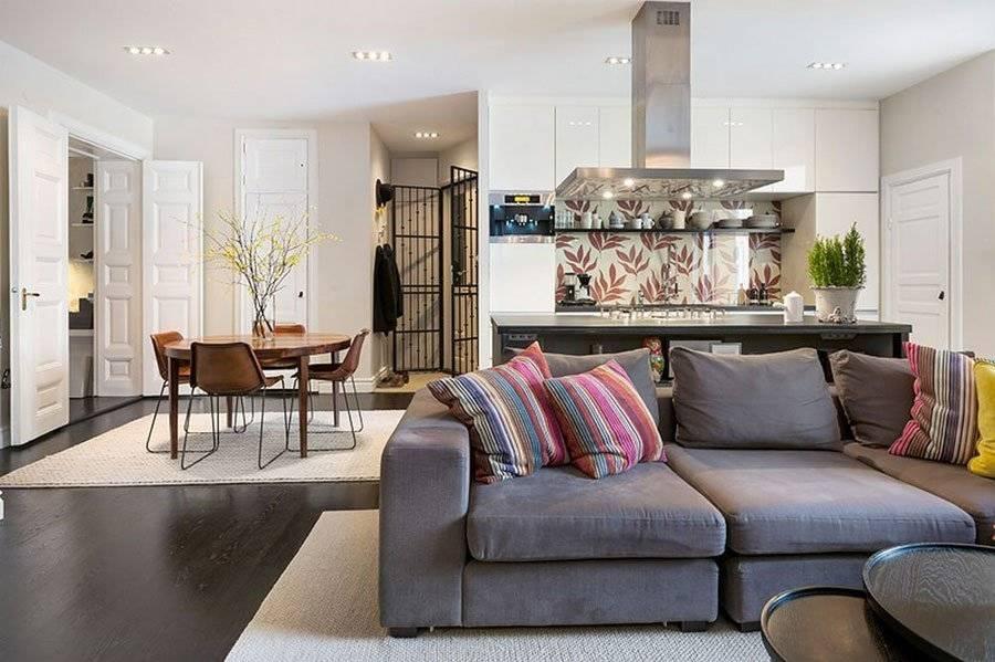 Дизайн кухни-гостиной 30 кв. м (68 фото): особенности планировки совмещенных кухонь-гостиных, примеры дизайн-проектов интерьеров с зонированием