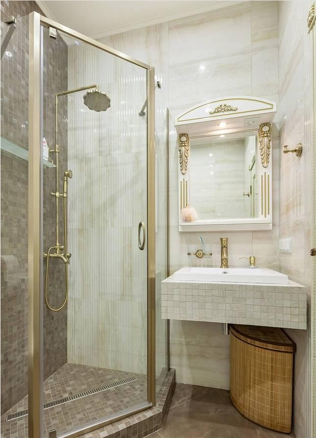 Дизайн проекты ванных комнат с душевой кабиной