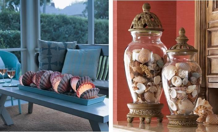 Ракушки в декоре интерьера — морское спокойствие (27 фото). ракушки в интерьере ванной комнаты