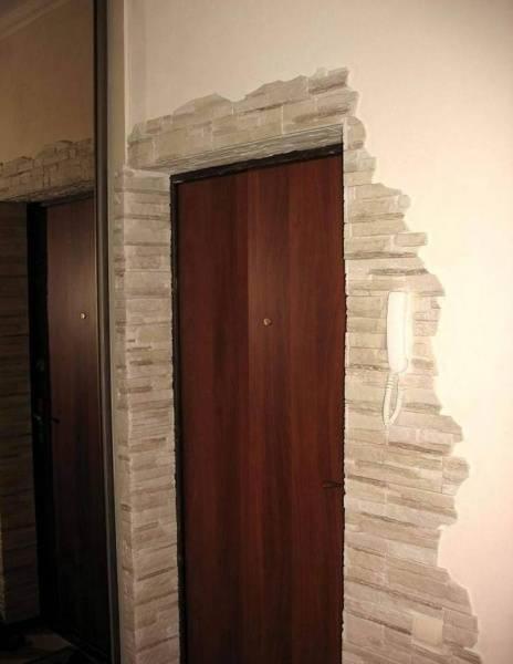 Особенности отделки арок и дверных проемов декоративным камнем