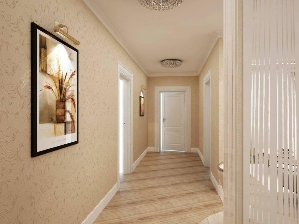 Обои в прихожую в интерьере под светлые двери: фото, дизайн