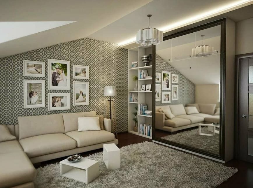 Дизайн спальни и гостиной в одной комнате. фото интерьеров в современном стиле