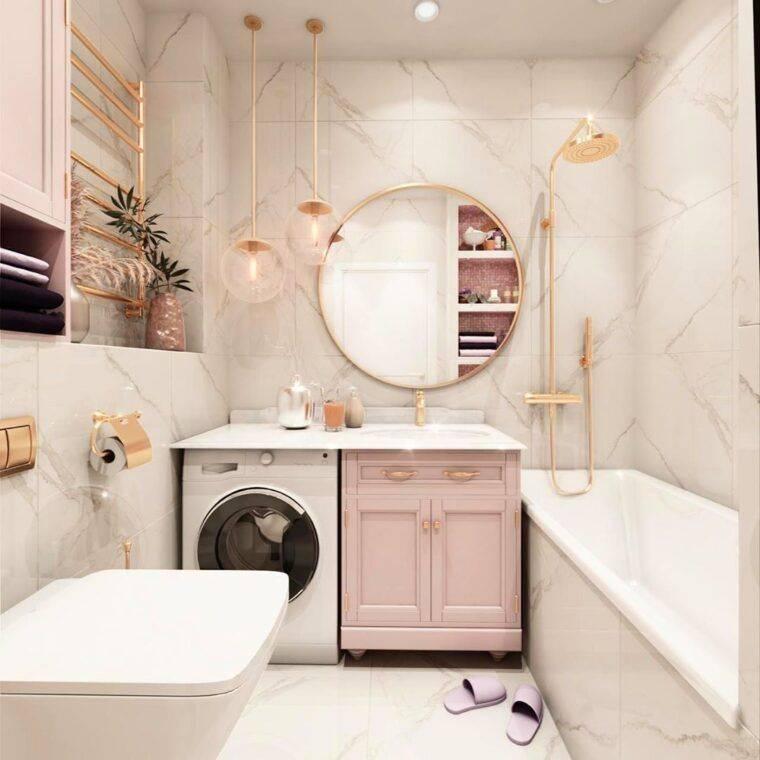 Дизайн ванной комнаты 4 кв м, совмещенной с туалетом: правильный проект интерьера  - 23 фото