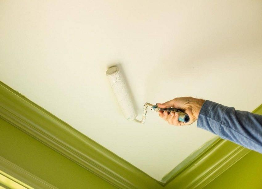 Как покрасить потолок на кухне: какую краску использовать, чем лучше отделать, видео и фото