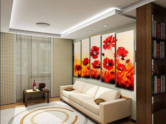 Картины для гостиной - лучшие идеи и идеальные варианты размещения картин (135 фото)