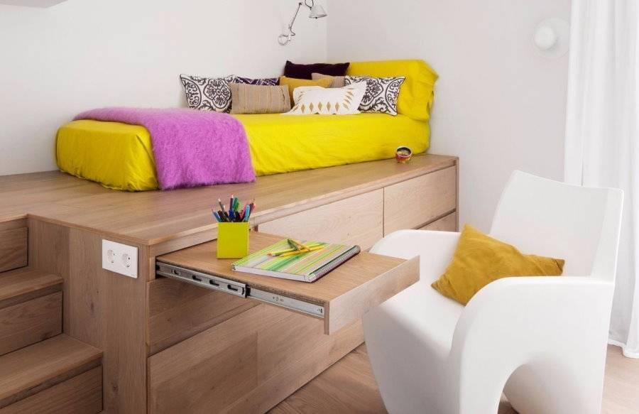 Основные преимущества кроватей-подиумов, варианты лучших конструкций