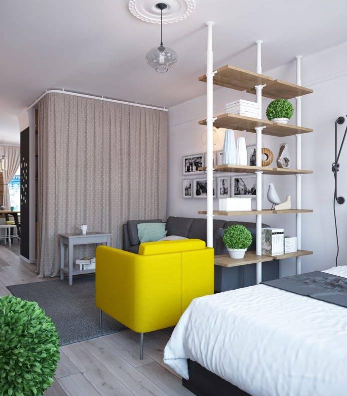 Дизайн однокомнатной квартиры 38-39 метров: фото интерьеров, проекты после перепланировки