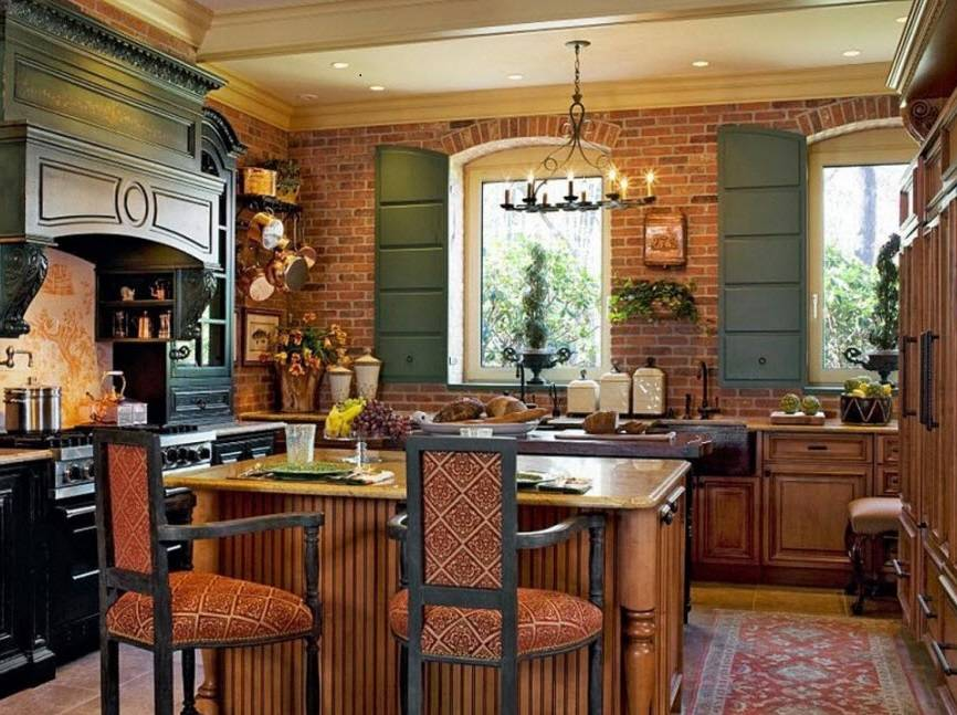 Дизайн кухни в стиле кантри +75 фото интерьера