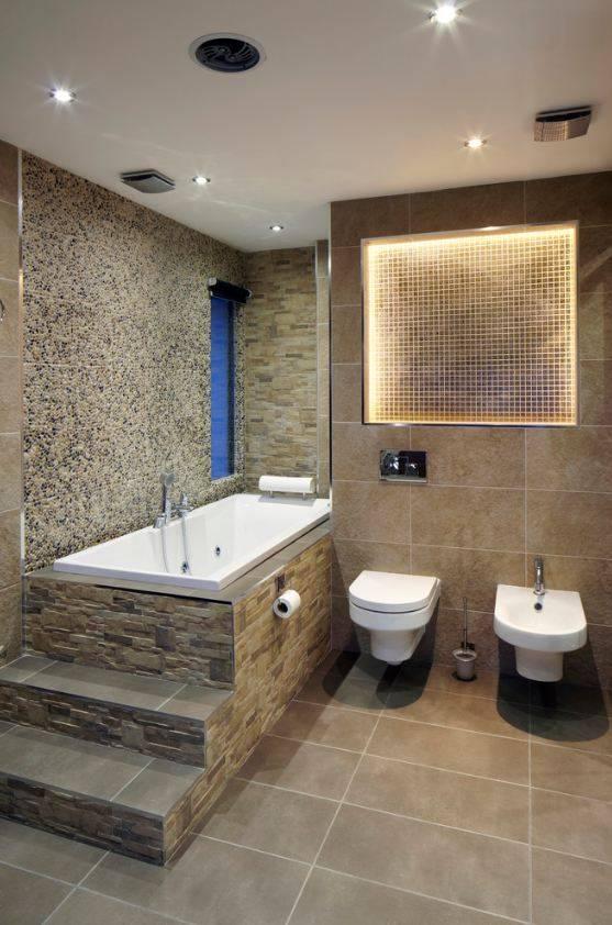 Дизайн туалета: варианты отделки и выбор материала