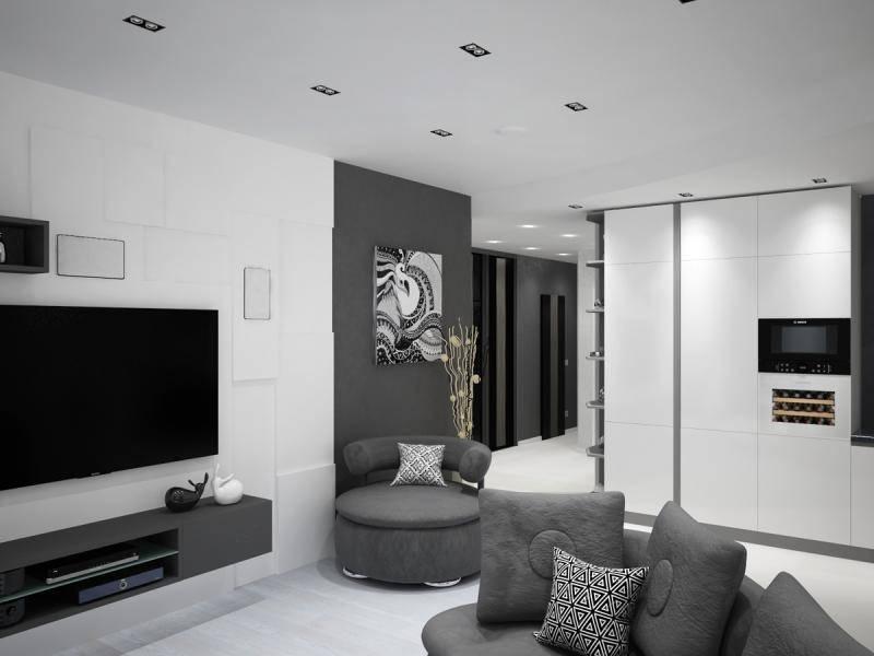 Дизайн чёрно-белого интерьера гостиной, варианты оформления зала с фото дизайн чёрно-белого интерьера гостиной, варианты оформления зала с фото