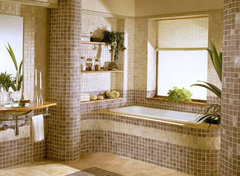 Плитка мозаика для ванной: 160 фото современных вариантов дизайна для ванной комнаты + советы по выбору плитки и укладке