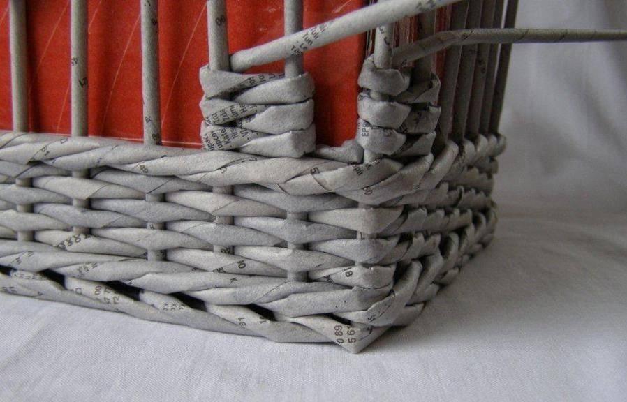 Плетение из газетных трубочек - 90 фото идей для начинающих