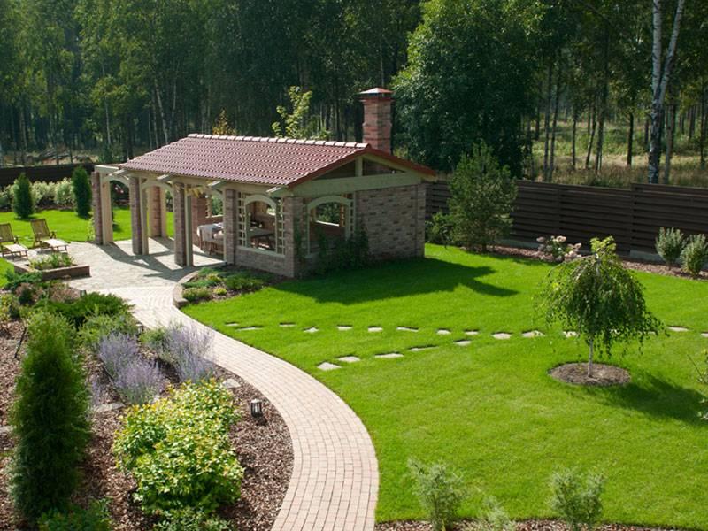 Ландшафтный дизайн дачного участка площадью 5 соток (39 фото): оформление узкого садового участка и грядок на даче