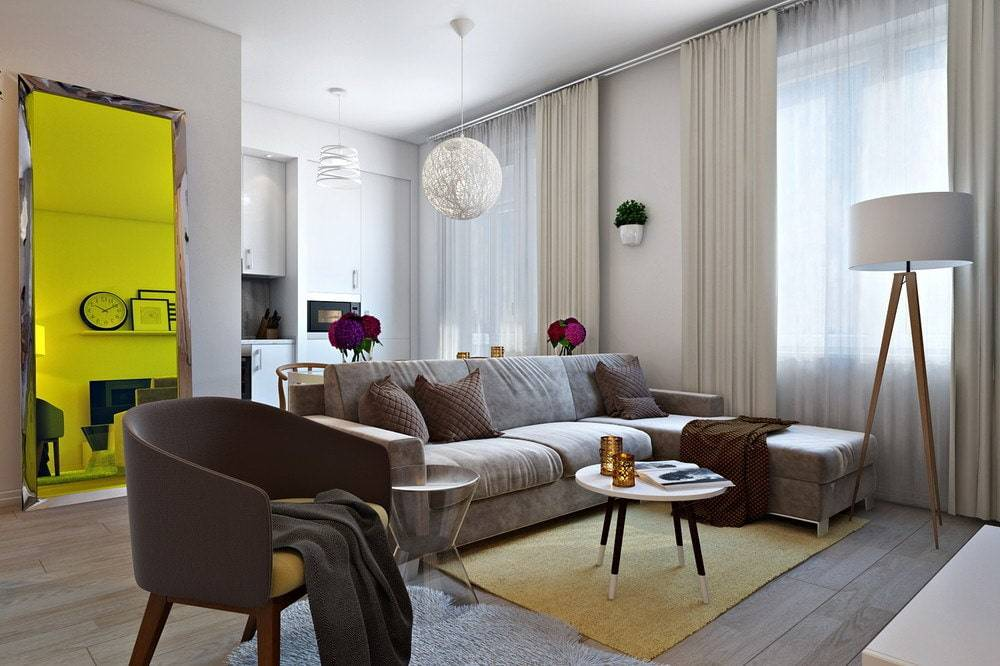 Планировка однокомнатной квартиры: топ-100 фото лучших дизайн-проектов и зонированияварианты планировки и дизайна