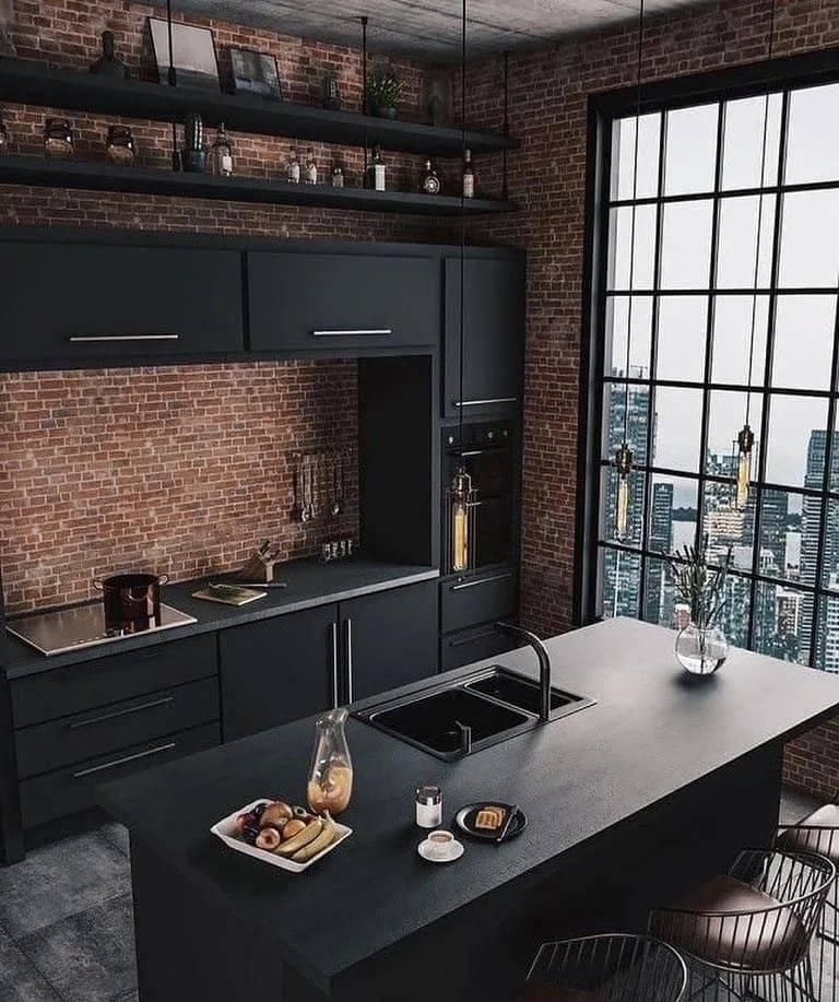 Интерьер кухни в стиле лофт — в чем его особенность 90 фото дизайна!