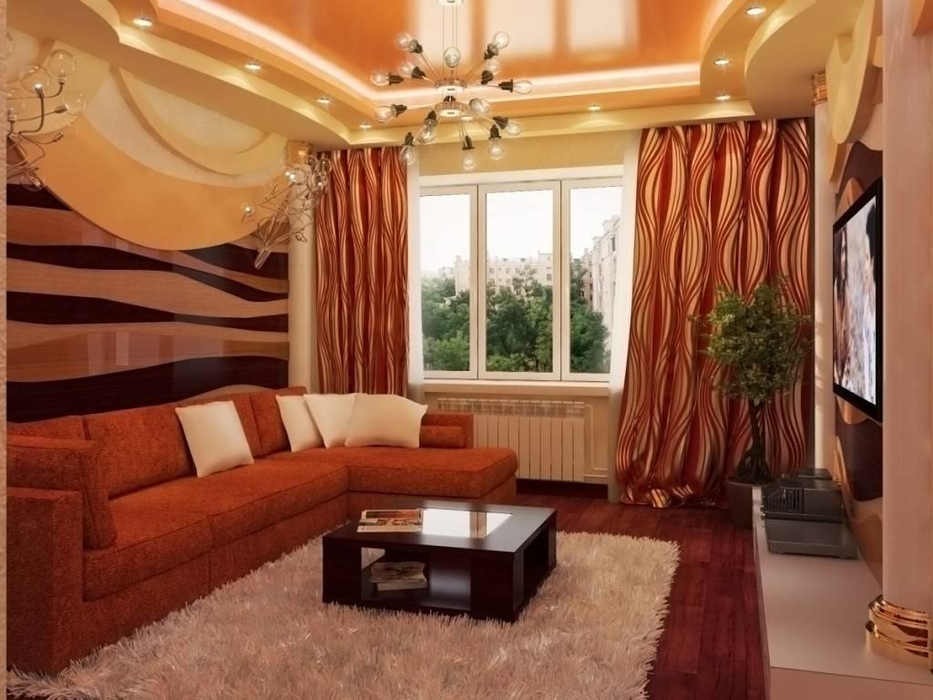 Стены в зале: красивые варианты отделки стен в современном стиле (135 фото примеров)