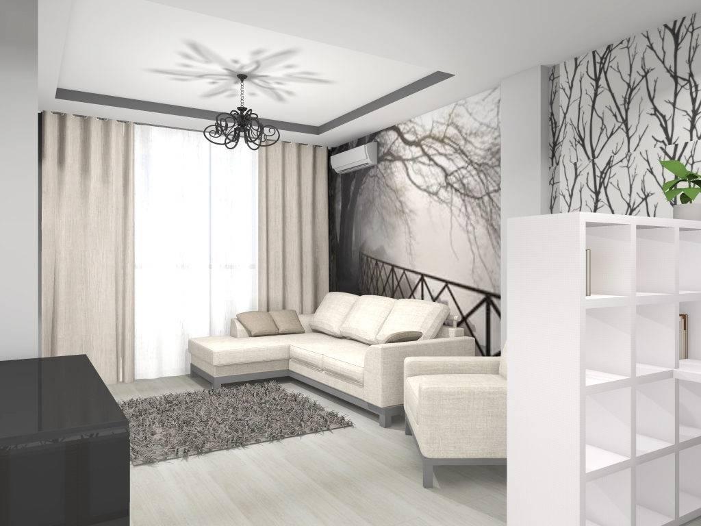 Интерьер однокомнатной квартиры 35 кв.м — 45 фото дизайнов