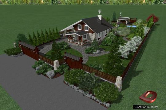 Обустройство ландшафтного дизайна на дачном участке площадью 8 соток
