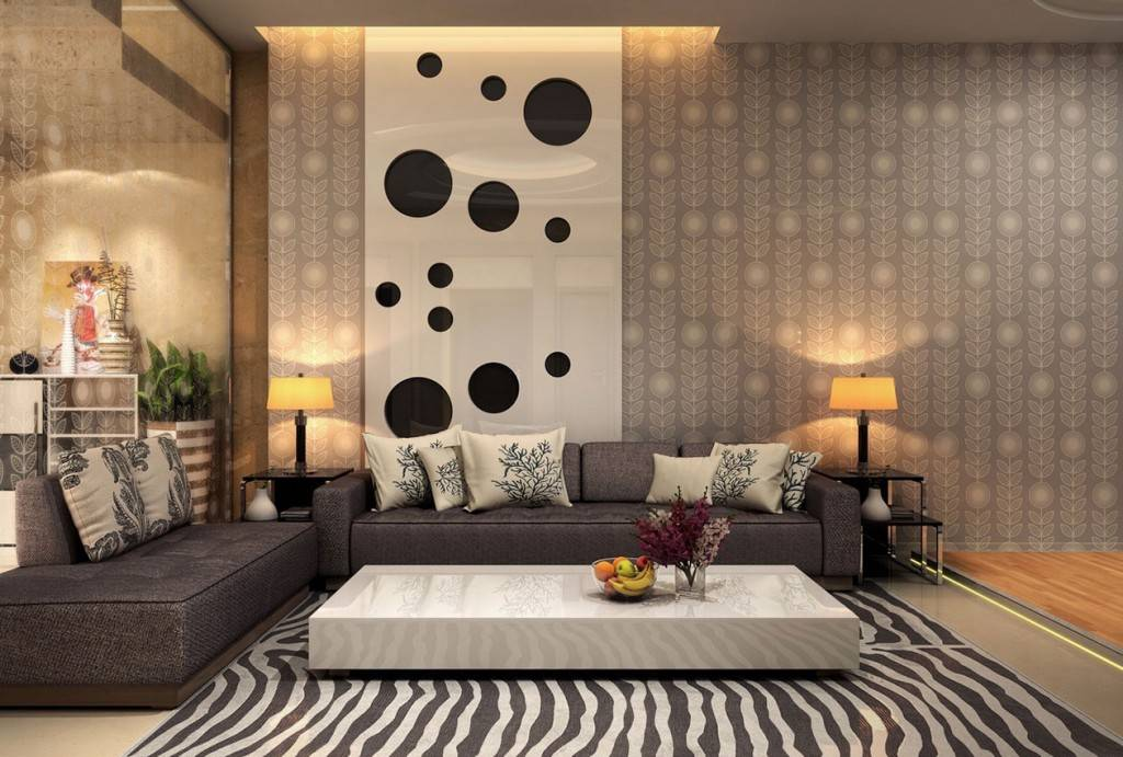 Обои для зала (фото), дизайн 2020 года: новинки, комбинированные для гостиной
