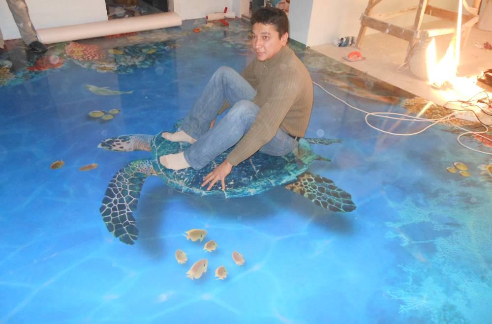 Наливные 3Д полы: что это такое и пошаговая технология