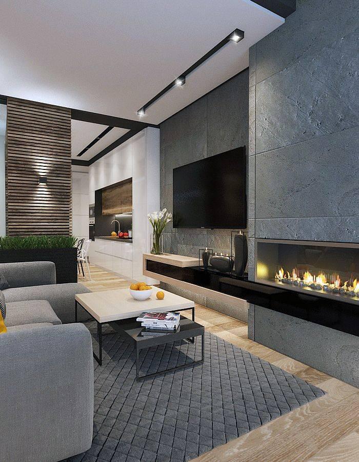 Гостиная с камином: стильные решения и удачные сочетания при оформлении гостиной с камином (140 фото)
