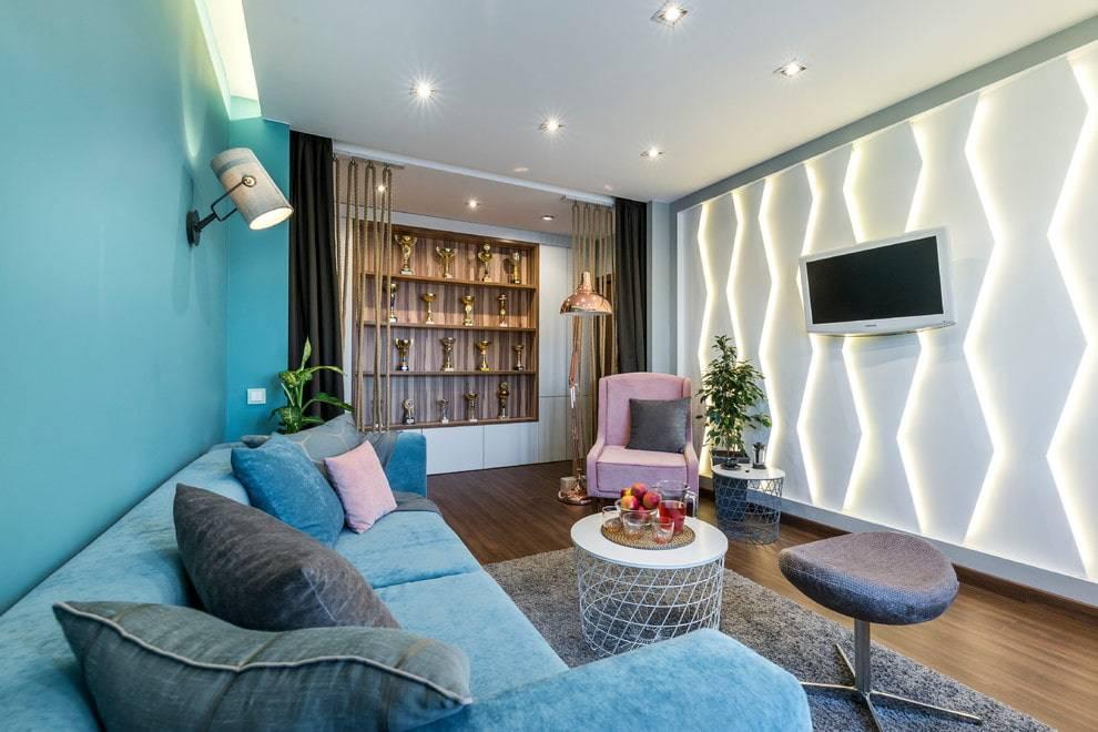 Маленькая гостиная: красивый дизайн в деталях
