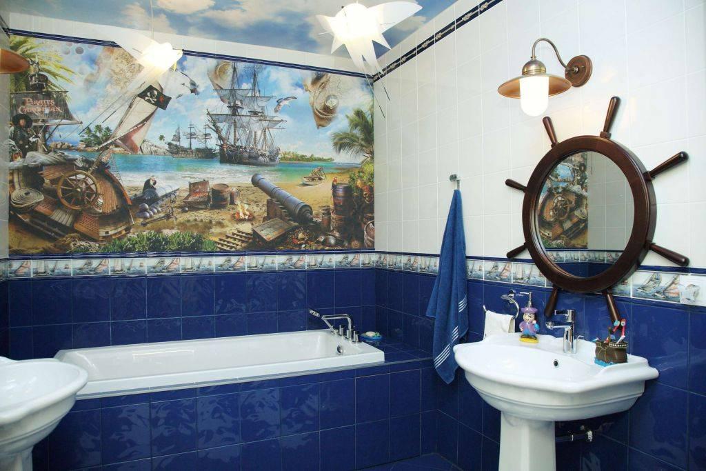 Ванная в морском стиле: характеристика стиля, фото дизайна интерьера, советы по оформлению