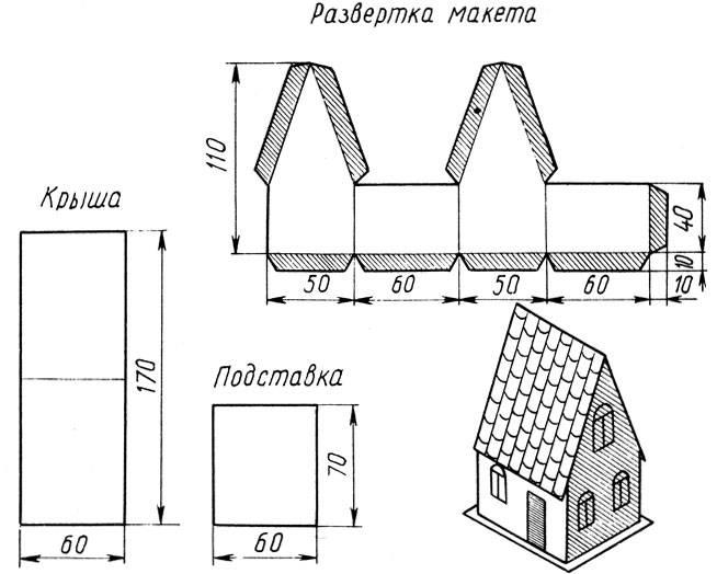 Домик из картона — пошаговая инструкция как сделать красивый игрушечный дом своими руками (75 фото)