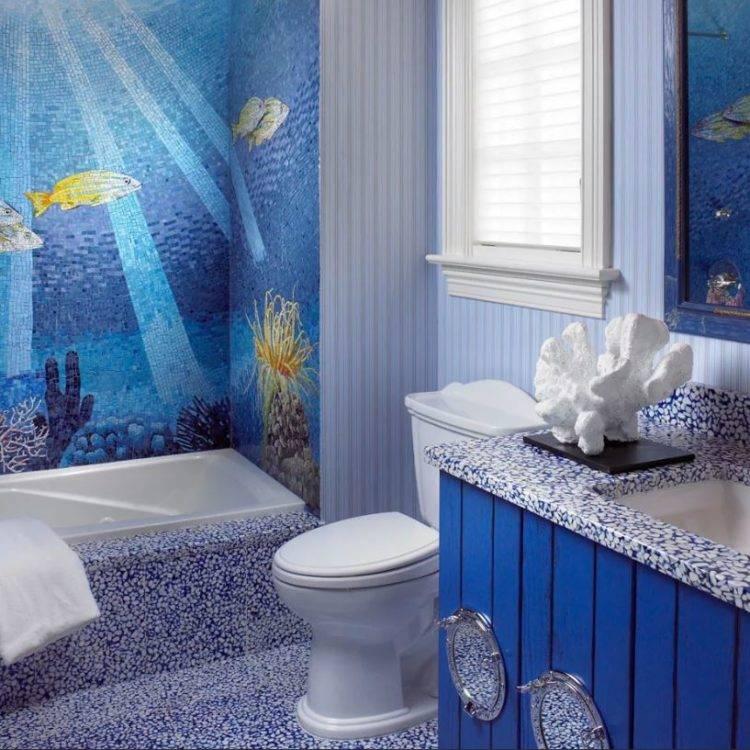 Дизайн ванной комнаты в морском стиле: фото и советы дизайнеров