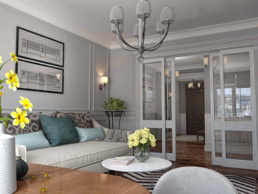 Гостиная в стиле неоклассика — подробное описание, как красиво оформить гостиную комнату, 140 фото