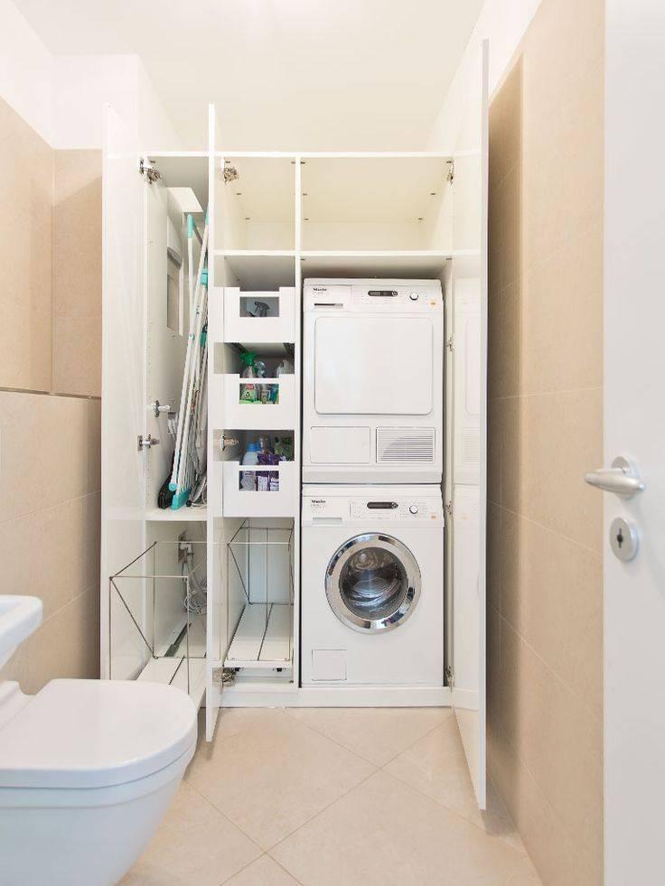 Классификация шкафов для стиральной машины, особенности моделей