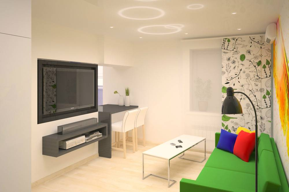 75 стильных идей дизайна квартиры студии 18 кв.м.