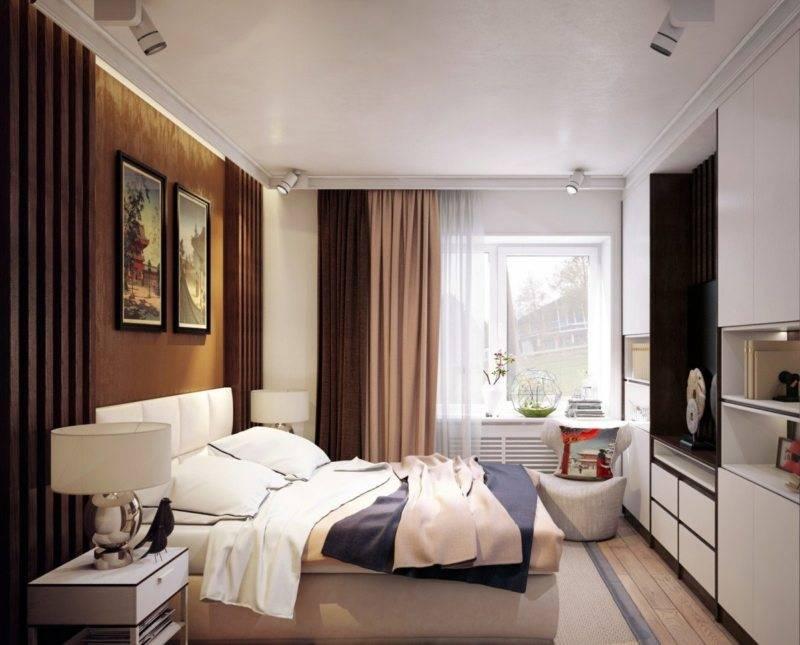 Современный дизайн спальной комнаты 13 кв м