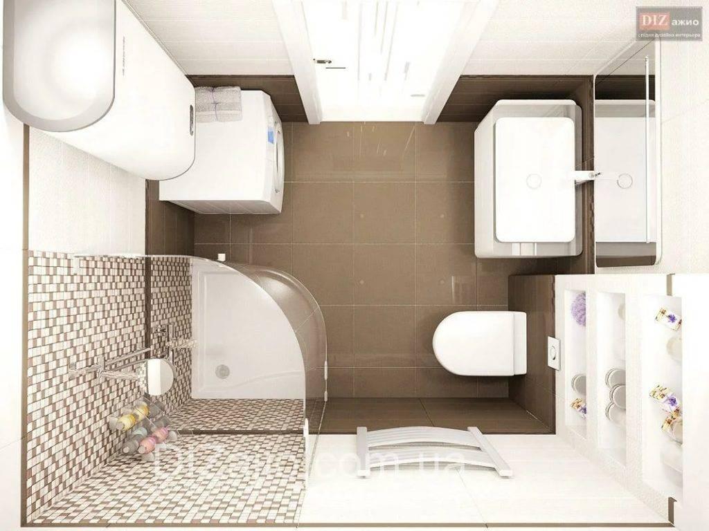 Дизайн ванной комнаты  на 4 кв. м: вместить все красиво
