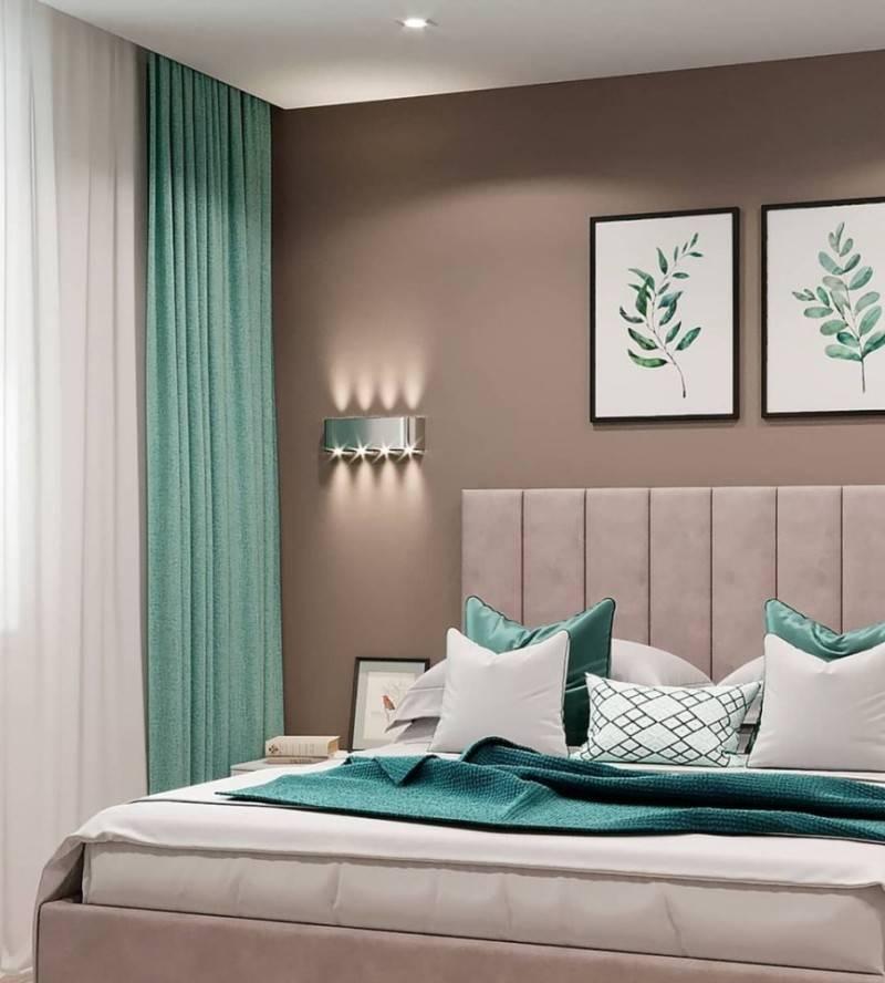 Спальня в зелёных тонах –как обустроить райский уголок