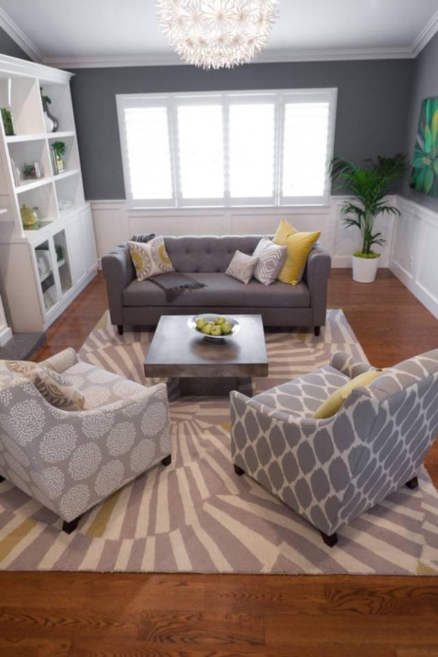 Как расставить мебель в гостиной [70 фото идей дизайна]