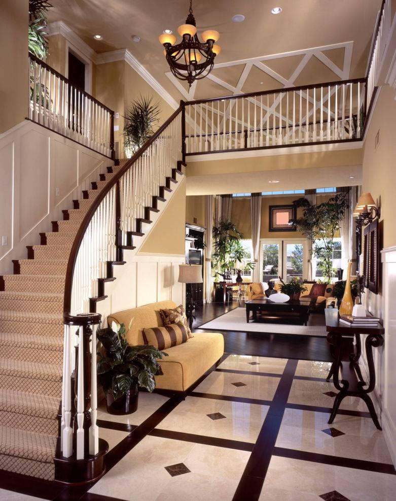Дизайн прихожей с лестницей на второй этаж — 45 оригинальных идей