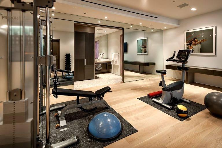 Дизайн спортзала в частном доме: оформление интерьера зала