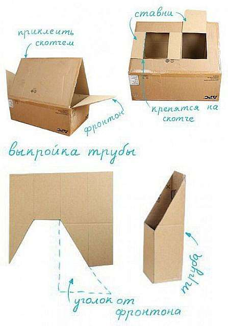 Домик из картона своими руками — как построить большой и маленький игрушечный картонный домик