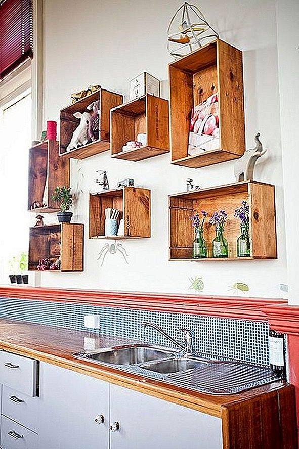 Открытые полки на кухню своими руками